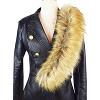 Faux Fur Stole in Fox