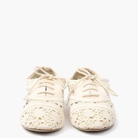 Lace Oxford Flat - White