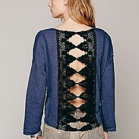 Free People Womens Victorian Lace Pullover
