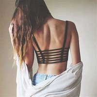 New Fashion Sexy Crop Tops Women Lady Strap Blouse Vest Cut Out Shirt Summer Beach Tank Whosale Price Lucky