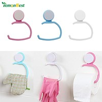 1 PC Wall Suction Cup Towel Shelf Toilet Paper Holder Gloves Hanging Rack Hook ABS for Bathroom Kitchen