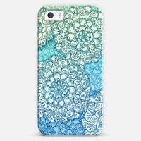 Sky Blue & Sea Green Organic Doodle iPhone 5s case by Micklyn Le Feuvre | Casetify