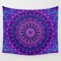 Harmony in Purple Wall Tapestry by Lyle Hatch