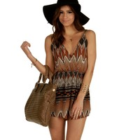 Rust Weekend Getaway Romper