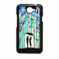 Love Song Romantic In The Rain Paint HTC One X Case