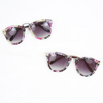 Retro Flower Print Sunnies