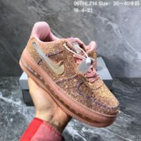hcxx N1549 Nike Air Force 1 AF1 Sole Liquid gradient of jelly Skate Shoes Pink