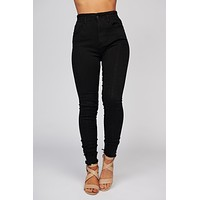 Paige High Waisted Skinny Jeans (Black)
