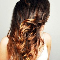 Black/Brown Ombre Hair Extensions Human Hair by Cloud9Jewels