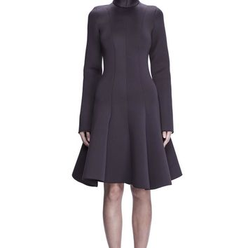 Plum Sleeved Neoprene Dress