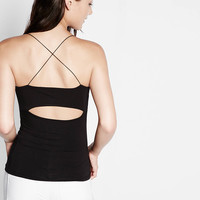 strappy layering cut out cami