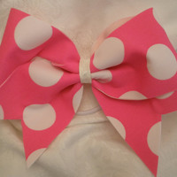 """Pink Bubble Gum Bow 3"""" Cheer Bow"""