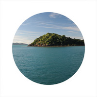 LIMITED EDITION Circle Photo, Ocean Photography, Sea, Blue, Seascape Photography, Island, Travel Photo, Open Edition 8 x 8 Square Photo