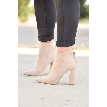 In The City Bootie - Taupe