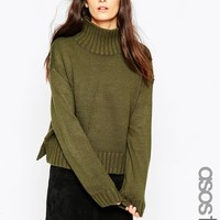 ASOS TALL Boxy Sweater With Chunky High Neck