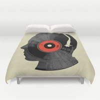 The Song In My Head Duvet Cover by Budi Satria Kwan