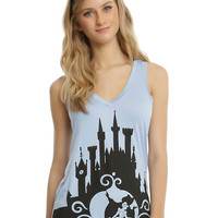 Disney Cinderella Castle Cut-Back Girls Tank Top
