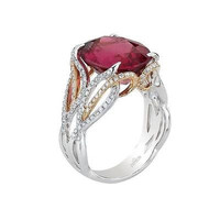 AMAZING 13.25CTW RED OYNAX STUD 925 STERLING SILVER ENGAGEMENT AND WEDDING RING