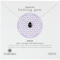"Dogeared ""Lasting Healing Gems"" Onyx Pendant Necklace"