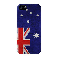 Old Grunge Metal Flag of Australia - Australian Flag Full Wrap Premium Tough Case - iPhone 5 / 5s by World Flags