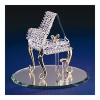 Baby Grand Piano Glass Figurine