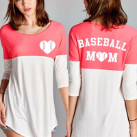 Baseball Mom Top