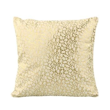 DAISY PILLOW WHITE AND GOLD