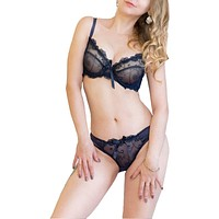 Transparent bra panties lace bra set embroidery bra set lingerie