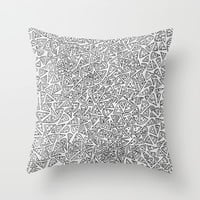 2D Pizza Throw Pillow by Didi Jean