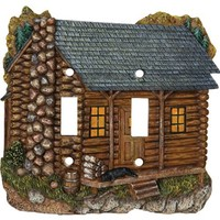 Rivers Edge Products Cabin Double Switch Electrical Switch Cover Plate