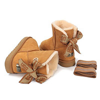 UGG New Ladies Bow Mid-cut Snow Boots Shoes
