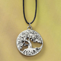 Pewter Tree of Life Pendant                        - New Age, Spiritual Gifts, Yoga, Wicca, Gothic, Reiki, Celtic, Crystal, Tarot at Pyramid Collection