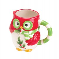 Holiday Hoot Owl Ceramic Cream Pitcher