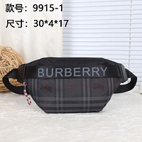 BURBERRY CANVAS WAIST CHEST PACK CROSS BODY BAG