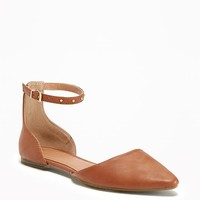 Ankle-Strap D'Orsay Flats for Women | Old Navy