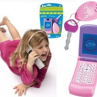 Lets Go Set: Pink Play Flip Cell Phone and Key Alarm