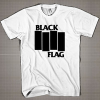 Black Flag  Mens and Women T-Shirt Available Color Black And White
