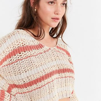 UO Sasha Striped Cropped Sweater   Urban Outfitters