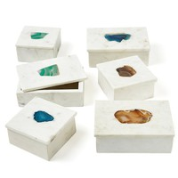 Stonehouse Marble Decorative Boxes (Set of 2)