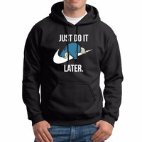Winter Modis Sudaderas para hombre Just Do it Later Mens Hoodies Funny  Hoodie Casual Cotton Fleece Sweatshirts MenKawaii Pokemon go  AT_89_9