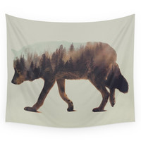 Society6 Norwegian Woods: The Wolf Wall Tapestry