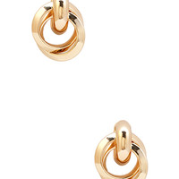FOREVER 21 Knot Stud Earrings Gold One