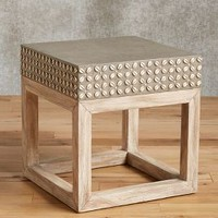 Cowrie Shell Side Table by Anthropologie in Natural Size: Side Table Furniture