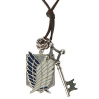 Attack On Titan Shield Key Cord Necklace