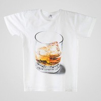 American Apparel - Screen Printed Power Washed Tee - Whiskey on the Rocks