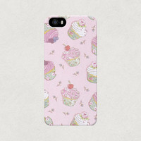 Pretty in Pink Cute Cupcake iPhone 4 4s 5 5s 5c Samsung Galaxy S3 S4 Case
