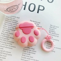 Pink Cat Claw Protective Airpod Case