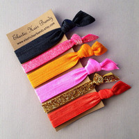 The Luna Hair Tie-Ponytail Holder Collection - 6 Elastic Hair Ties by Elastic Hair Bandz on Etsy