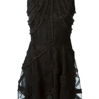 Moschino Cheap & Chic embellished flared dress