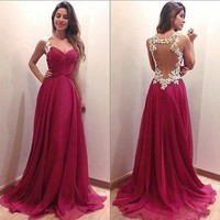 Fashion Prom Dress Ladies Sexy Sleeveless Backless Maxi Dress Formal Evening Party Date Cocktail Ball Gown Dress Bridesmaid Dress = 5841919425